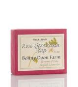 Rose Geranium Soap Bar 160ml by Bonny Doon Farm