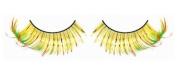 Metallic Green, Yellow & Orange False Eyelashes nr.538 Including Free adhesive