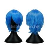SureWells Nice wigs Starry Sky,Vampire Knight Mix Light Blue Short Cosplay Costume Wig