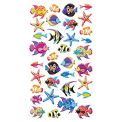Puffy Dimensional Stickers-Tropical Fish