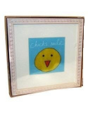 """Chick Baby Wall Art Wood Frame - """"Chicks Rule"""""""