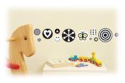 FunToSee Mini Wall Sticker Decals, Balck White Polka Dot