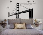 Modern House Golden Gate Bridge Bay Bridge Wall Decor Removable Decal Wall Sticker