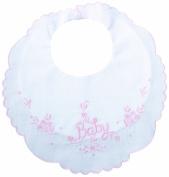 Lillian Rose Cotton Baby Bib, Pink, 22cm x 23cm