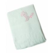 Baby Girl Pink Giraffe Design Soft Acrylic Shawl (120cm x 120cm (approx))