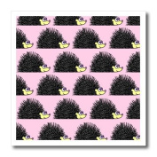 Janna Salak Designs Small Pets - Cute Hedgehog Print Pink - Iron on Heat Transfers