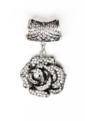 Rose Design Charm Fashion, DIY Scarf Jewellery Pendant Accessories- Scarf NOT Included