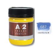 A_2 Student Acrylic 250 ml Jar - Cobalt Blue Hue