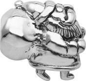 Persona Sterling Silver Oxidised Santa Claus Bead fits Pandora, Troll & Chamilia European Charm Bracelets