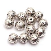 Ball Flower Bali Style Metal Antique Tibetan Silver Findings Jewellery Making DIY Spacer Beads
