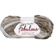 Fabulous Metallic Yarn-Silver/Brown