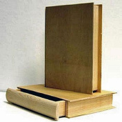 Unfinished Pine Wood 20cm Book BOX with Pull Out Drawer