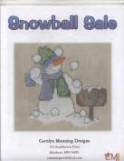 Snowball Sale Snowman Stitching Design
