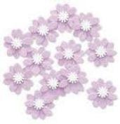 Purple Verbena Embellishments for Scrapbooking