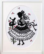 "Orimupasu made cross stitch embroidery kit ""stitch girl Onoe, Megumi"" letter No.7383"