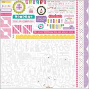Bella Blvd Birthday Girl Alpha Bits 12x12 Scrapbook Stickers