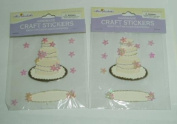 2 packages of Wedding Cake Craft Scrapbooking Stickers ~ Acid & Lignin Free