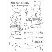 Honeypop Clear Stamp Set 10cm x 13cm -Baking Pup