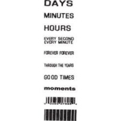 Days Minutes Hours Clear Unmounted Rubber Stamp Set