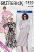 Butterick Pattern 5763 ~ Misses' Dress ~ 8-10-12