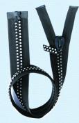 60cm Rhinestone Zippers ~ Separating ~ Czech Rhinestone Zipper ~ Dual-strand ~ Black
