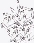 PRYM #00 Safety Pins Nickel Plated Steel Silver Colour 1.9cm