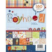 Paper Stack 22cm x 28cm 180/Sheets-Boyhood, 60 Designs/3 Each