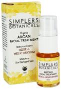 Simplers Botanicals - Organic Argan Facial Treatment Rose & Helichrysum - 15 ml.