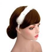 Ballerina Feather Headpiece Bridal Rhinestone Wedding Bridesmaids Headband Hair Accessories