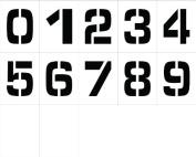 "NMC PMN8 ""0"" - 23cm Stencil Number Set, 23cm Width x 30cm Height"