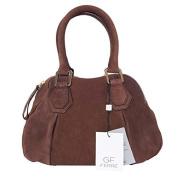 Gian Franco Ferre Women's Handbag Cognac Suede ft x 1.2m