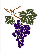 Faux Like a Pro Grape Cluster Wall Stencil, 14cm by 18cm , Single Overlay