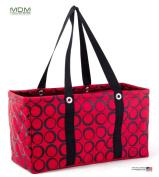 "MDM Large Utility Tote Bag, Organiser, Laundry Bag ""Red & Black"""