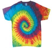 Rainbow Colours Tie Dye Toddler Tee 2T, 3T, 4T 100% Pre-Shrunk Cotton