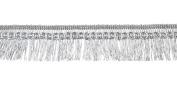 Belagio Enterprises 1.9cm Metallic Fringe Trim 25 Yards, Silver