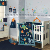 Lambs & Ivy Luxury Bubbles and Squirt Bedding Set