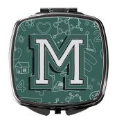 Letter M Back to School Initial Compact Mirror CJ2010-MSCM