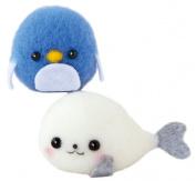Kit made from Hamanaka felt wool kit Akurenu Maru seals and penguins H441-415 Designed by Yoko Oko