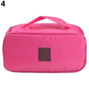 1 pc Portable Protect Bra Underwear Lingerie Case Travel Organiser Waterproof Bag Pink