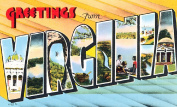 Virginia Greetings Reproduction Luggage Decal 7.6cm x 13cm
