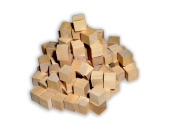 Wood Cubes - Bag of 100 - 1.6cm - Unfinished Blank Craft Cubes / Blank Dice / Toy Blocks