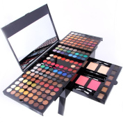 PhantomSky 180 Colours Eyeshadow Palette Makeup Contouring Kit Combination with Eyebrow Powder, Blusher and Press Powder - Perfect for Professional and Daily Use