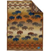 Pendleton Prairie Rush Hour Muchacho Wool Baby Blanket,80cm x 110cm ,BROWN