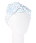 Wrapadoo 2-in-1 Hair Towel, Blue Damask