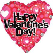 Happy Valentine's Day 43cm Mylar Balloon Bulk