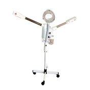 Huini Hot & Cold Facial Steamer Beauty Salon Equipment with Ozone + LED Magnifying Lamp