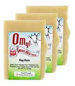 OMy! Goat Milk Soap 180ml Bar - Bundle of 3 - Bay Rum