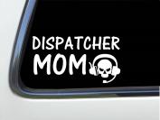 ThatLilCabin - Dispatcher MOM skull 20cm AS418 car sticker decal
