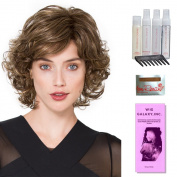 Gina Mono by Ellen Wille, Wig Galaxy Hair Loss Booklet, Shampoo, Conditioning Spray, Flexible Spray, HD Smooth Detangler, Wig Cap, & Wide Tooth Comb (Bundle - 8 Items), Colour Chosen