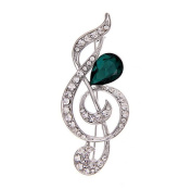 Hosaire Girl's Women's Fashion Musical Note Brooch Pin With Rhinestones And Crystal Fashion Jewellery